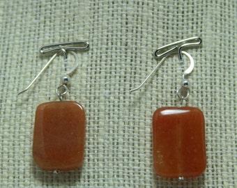 Caramel colored stone earrings