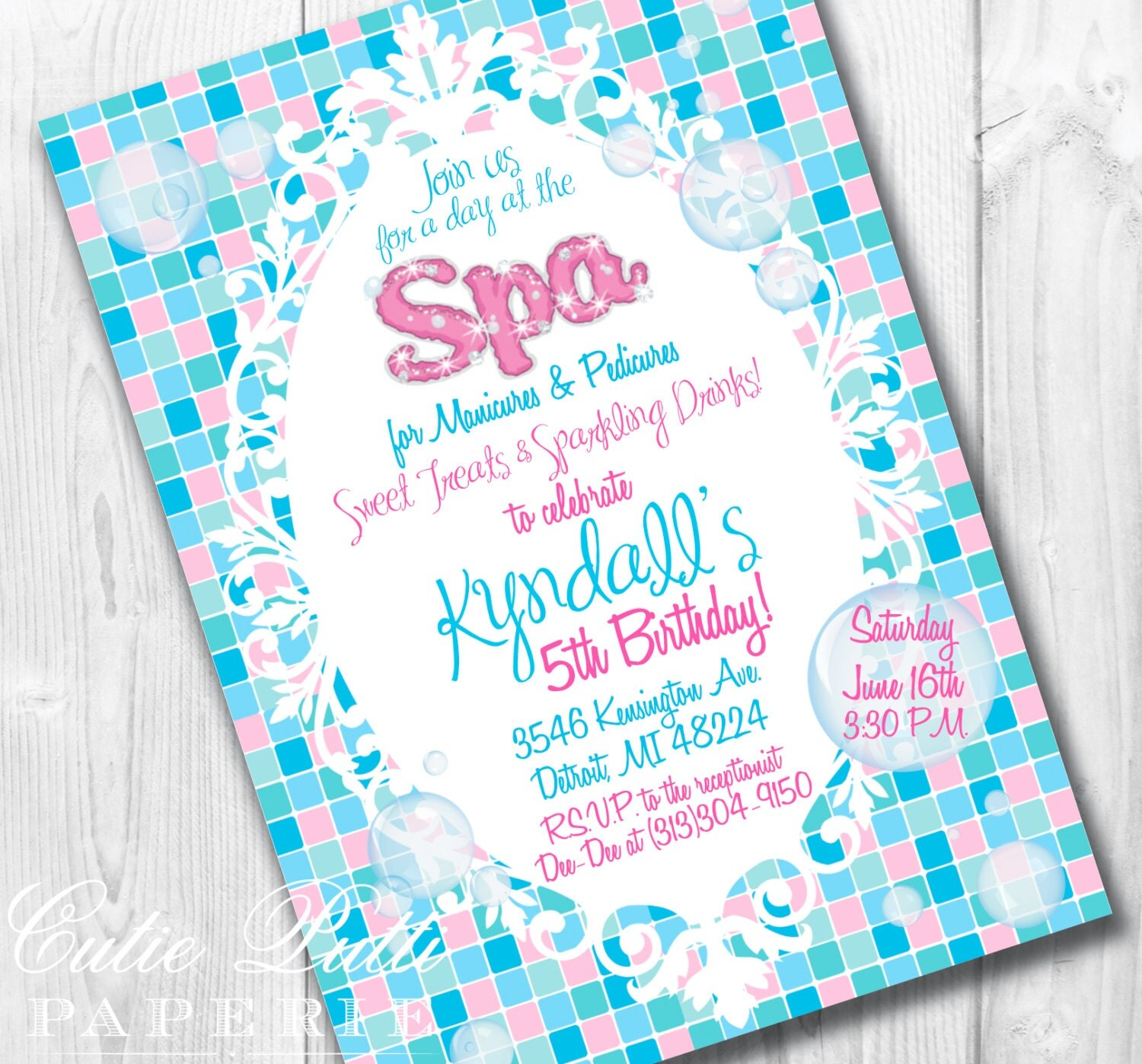 Pamper Party Invitation was luxury invitations template