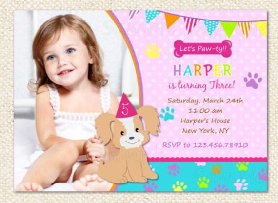 dog puppy birthday invitations by lollipopprints on etsy, Birthday invitations