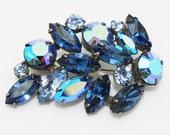 Vintage Blue Brooch Regency Signed