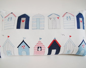"""Modern Beach Houses/ Designer Pillow Cover / Cottage Life/ 12""""x20""""/ Made To Order"""