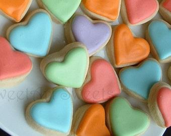 Valentine's Day cookies - 6 dozen - mini heart cookies