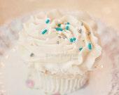 Cupcake Photography, Sweet Cupcake, Vanilla, Paste, Pink, Dessert Photography Art, Cupcake Print, Kitchen Wall Art, Sprinkles, Cupcake Art