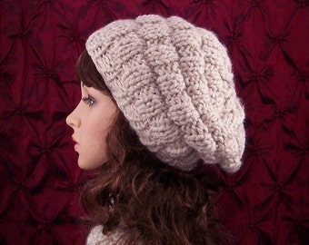 Hand knit hat - rippled beehive hat - your color choice - Winter Fashion, women's accessories, gift for her Sandy Coastal Designs