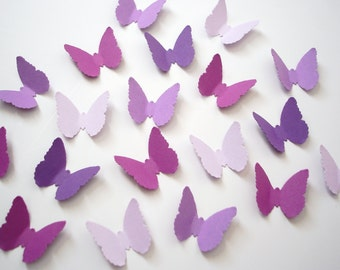 100 Mixed Purple Butterfly punch die cut confetti scrapbook embellishments - No612