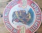Vintage Sleepy Eye Barrel Label Advertisement.