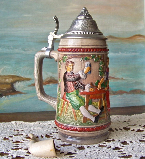 Vintage Gerz Beer Stein West Germany |Vintage West Germany Beer Steins
