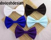 Solid Color Fabric Hair Bows,Pastel Fabric Hair bow for teens or women,girls hair bows,basic hair bows , Hair Bows