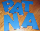 LETTERS - Large Vintage Sign Letters in Red and Blue