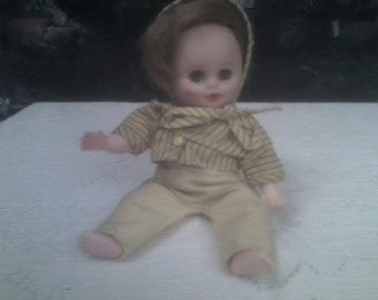 Rare Size 7.75 inch Vintage Doll Thick Rooted Hair Mini Look Alike of Babee-Bee Believed to be manufactured by Cosmopolitan Doll & Toy Corp