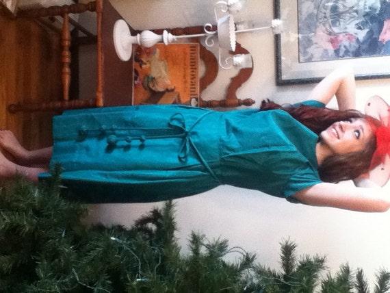 Taffeta party dress st patricks christmas wedding bride s maid