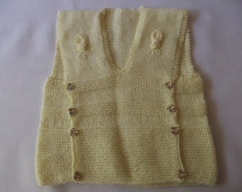 BABY VEST...Yellow color...