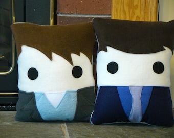 Torchwood inspired plush pillow, Ianto Jones. Jack Harkness, decorative pillow