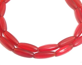 Ruby Red Faceted Glass Trade Beads African 72940