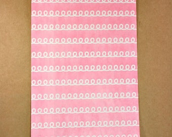 20 PINK Frosting print  treat Bags, Birthday party, wedding, baby shower, Party Favor