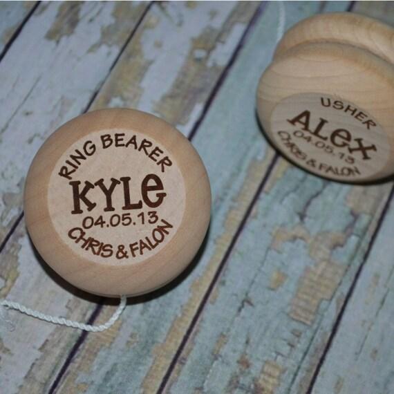 Wedding Attendants Gifts: Yo Yo Ring Bearer Wedding Attendant Gift Personalized YoYo