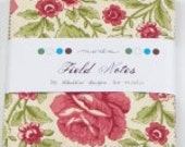 Moda Charm Square - Field Notes  quilting fabric by Blackbird Designs 2710PP