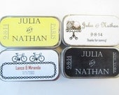 Personalized Wedding Favors - Lip Balms, only 2.50 each with purchase of 50 - 99 favors