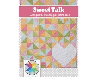 Sweet Talk - a PDF quilt pattern (throw & twin sizes)