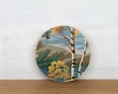 Paint by Number Circle Art Block 'Autumn Birches' - woodland, landscape, vintage art, wall decor