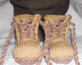 Baby Combat Boots military style boots handknitted riggers
