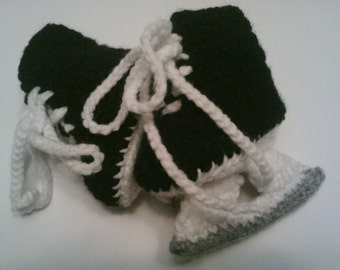 Free Crochet Pattern Baby Hat With Bow : Popular items for hockey skate on Etsy