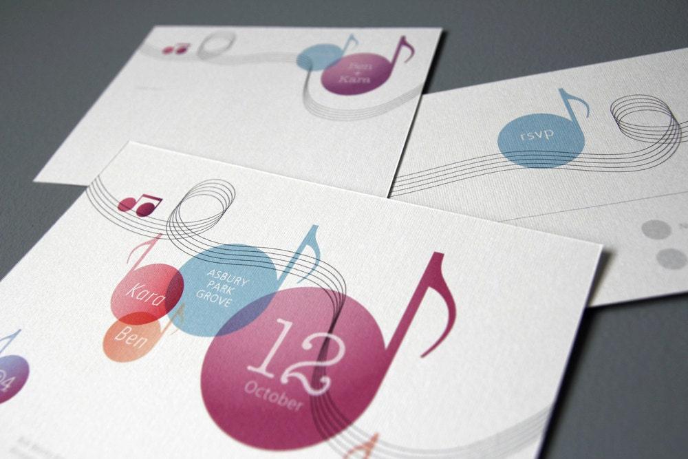 Music Themed Wedding Invitation Set Printable Diy Suite