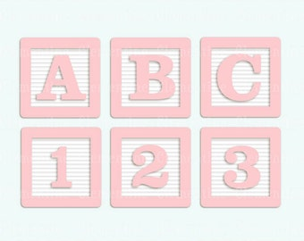 Clip Art Baby Blocks Clipart baby blocks clip art etsy pink alphabet images royalty free instant download