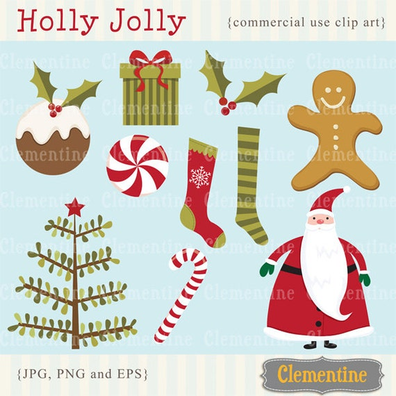 Christmas clip art images, Christmas clipart, Santa clip art,  Royalty free clip art- Instant Download
