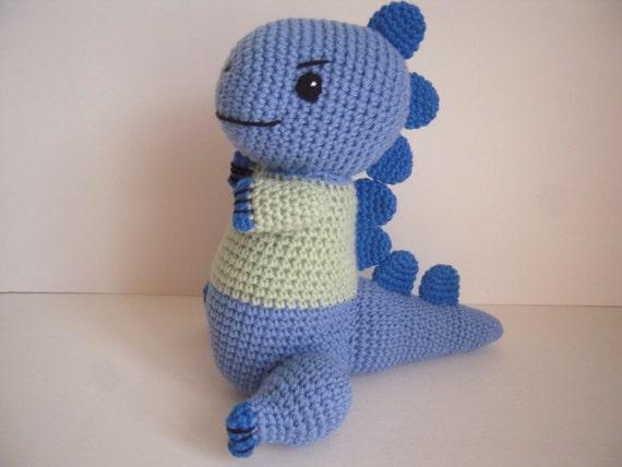 Crocheted Stuffed Animal Amigurumi Dinosaur