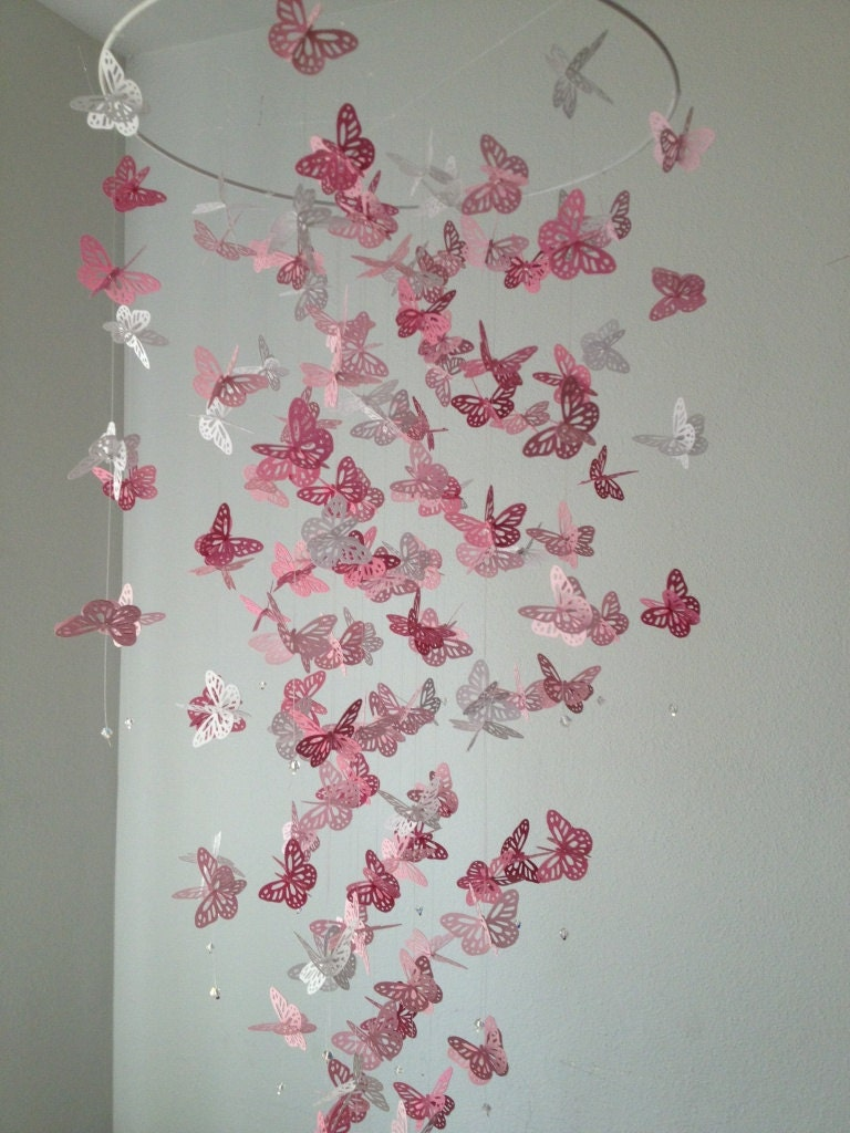 Monarch Butterfly Chandelier Mobile A Touch Of White