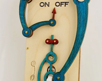 Toggle Light Switch Plate -  Beach Styling - 8001E