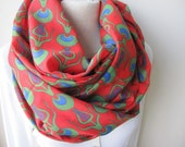 Green red scarf - Ottoman cintemani print Infinity scarf - Anatolian scarf - women's scarves - woman fashion accessories- gifts for her