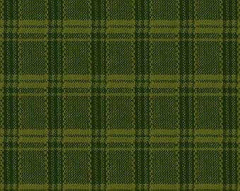 Buggy Barn Yarn Dye Green Woven Plaid for Henry Glass