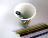 Pinched Glass Straw- Customize your own Pinched Mouth Glass Drinking Straw