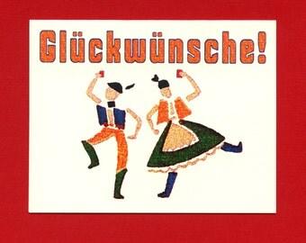 GLÜCKWÜNSCHE - GERMAN CONGRATS - Congratulations - Congratulations Card - Graduation Card - Graduation - Congrats Card - Item# C016