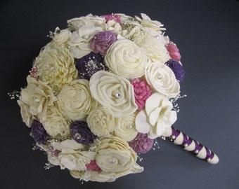 Sola flower bouquet - custom made - bride or bridesmaid