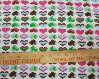 mad sky hearts... Cotton Jersey Knit FAbric