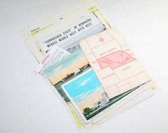 Nebraska - United States Vintage Travel Collage Kit
