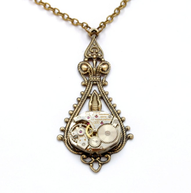 Is Steampunk Jewelry A Craft Or An Art: Steampunk Necklace Steampunk Jewelry Vintage Style Steampunk