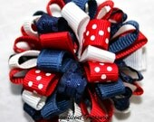 Patriotic Loopy Puff Bow