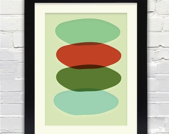 Mid Century Modern Nest Art Print // Free Shipping // Abstract Art Print