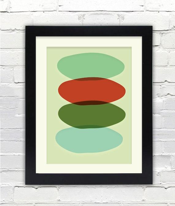 Mid Century Modern Nest Art Print // Free Shipping // Abstract Art Print