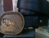 Blackwood Handcrafted Leather Belt  in Trail Ranger cut for AC100 Buckle (Limited Edition)