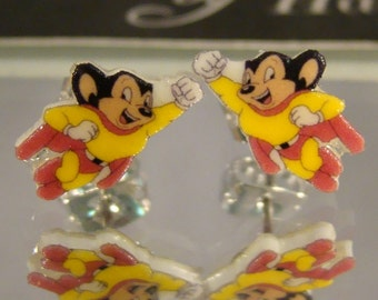 Mighty Mouse Stud Earrings