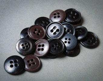 Lot of similar  vintage plastic buttons, multicolored buttons.