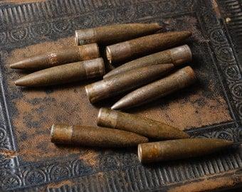 Lot of 10 Vintage original military bullets.
