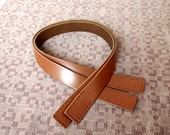 23.5 inch Tan Real Leather Bag Straps Bag Handles Punch Hole Ready