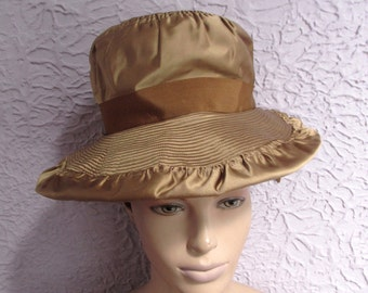 50s Vintage Silk Satin Hat Fab Fifties Chapeaux size 23