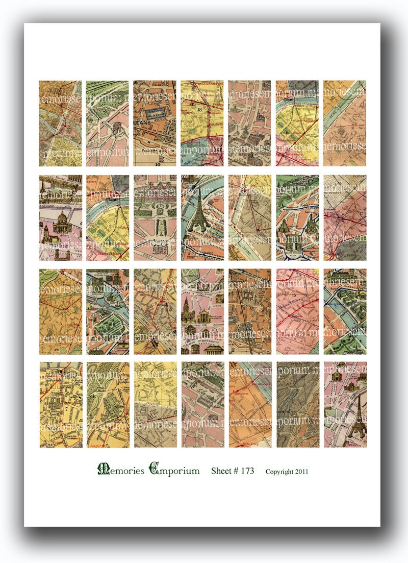 paris maps 1 x 2 inch domino tiles pendant jewelry bezels french digital collage sheet printable. Black Bedroom Furniture Sets. Home Design Ideas